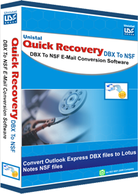 DBX to NSF Email Conversion Software