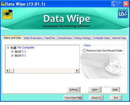 Download Data Wiping Software for Disk, Hard Drives