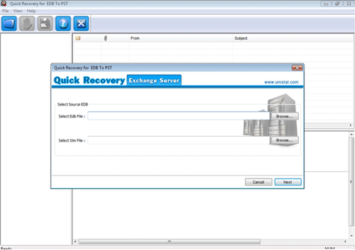 EDB to PST Software software screenshot