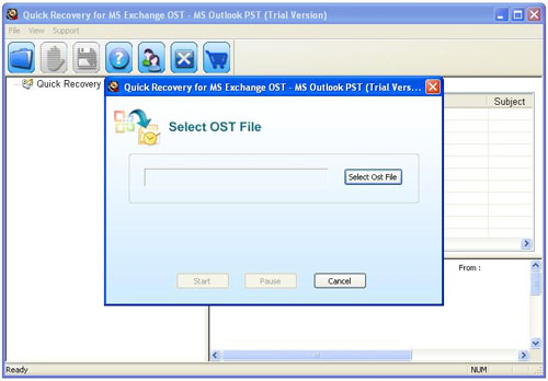 Unistal Convert OST to PST Software Screenshot