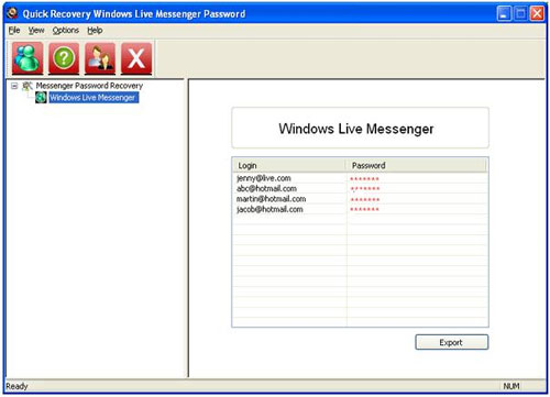 Windows Live Messenger Forgot Password Recovery Tool